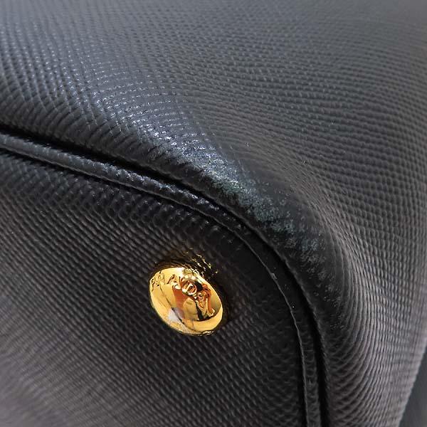 Prada(프라다) B2756T SAFFIANO CUIR NERO 사피아노 블랙 두블레 금장로고 토트백 + 숄더스트랩 2WAY [인천점] 이미지5 - 고이비토 중고명품