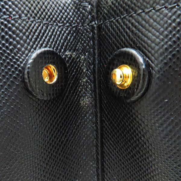 Prada(프라다) B2756T SAFFIANO CUIR NERO 사피아노 블랙 두블레 금장로고 토트백 + 숄더스트랩 2WAY [인천점] 이미지6 - 고이비토 중고명품