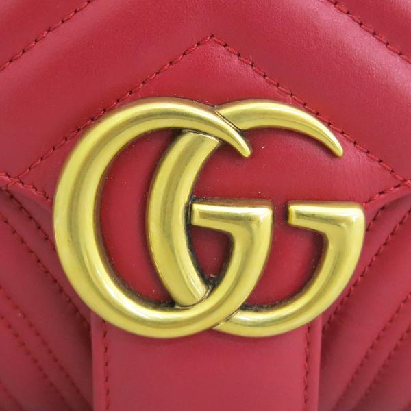 Gucci(구찌) 443497 레드컬러 레더 GG마몬트 스몰 마틀라쎄 퀼팅 금장 체인 숄더백 [동대문점] 이미지4 - 고이비토 중고명품