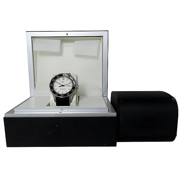 IWC(아이더블유씨) IW356811 AQUATIMER(아쿠아타이머) 화이트 다이얼 오토매틱 42MM 러버밴드 남성용 시계 [대전본점]