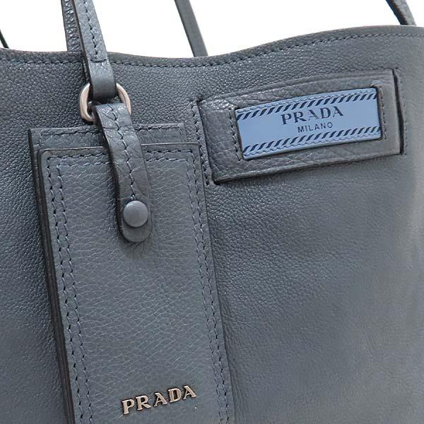 Prada(프라다) 1BG122 GLACE CALF (글라세 카프) MARINE ASTRA 컬러 에티켓 스퀘어 쇼퍼 숄더백 [인천점] 이미지4 - 고이비토 중고명품