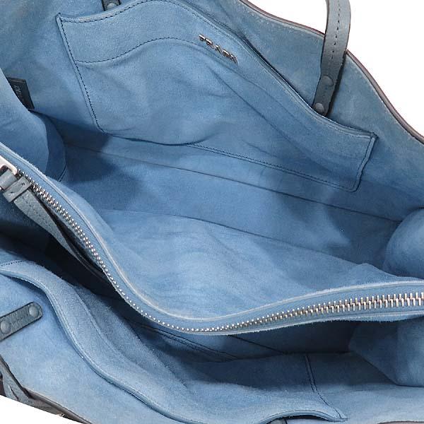 Prada(프라다) 1BG122 GLACE CALF (글라세 카프) MARINE ASTRA 컬러 에티켓 스퀘어 쇼퍼 숄더백 [인천점] 이미지7 - 고이비토 중고명품