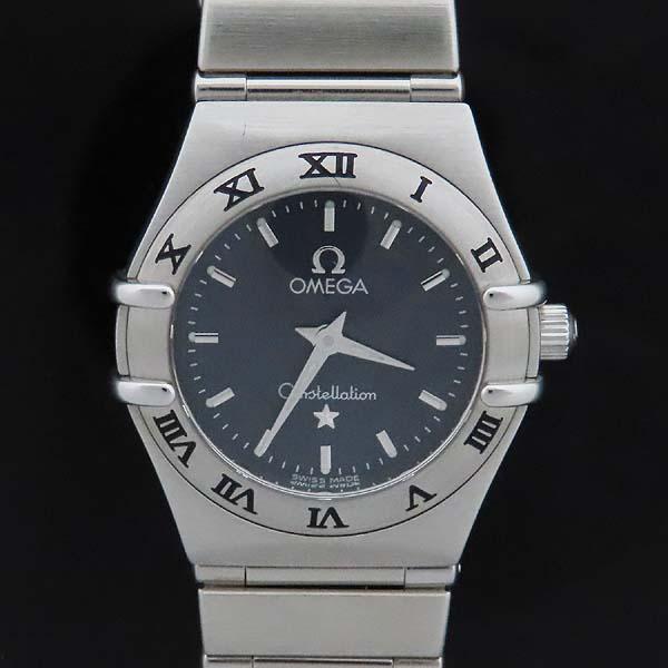 Omega(오메가) 1562 40 CONSTELLATION (컨스틸레이션) 22.5mm 네이비 다이얼 바 인덱스 쿼츠 스틸 브레이슬릿 여성용 시계 [인천점]