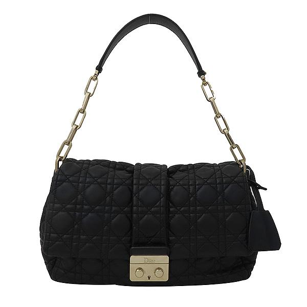 Dior(크리스챤디올) M9803PVRK 블랙 램스킨 디올 뉴 록 은장 체인 숄더백 [부산서면롯데점]
