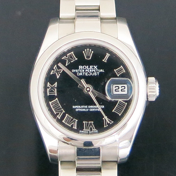Rolex(로렉스) 179160 DATE JUST(데이저스트) 블랙 다이얼 로만 스틸 여성용 시계 [동대문점] 이미지2 - 고이비토 중고명품