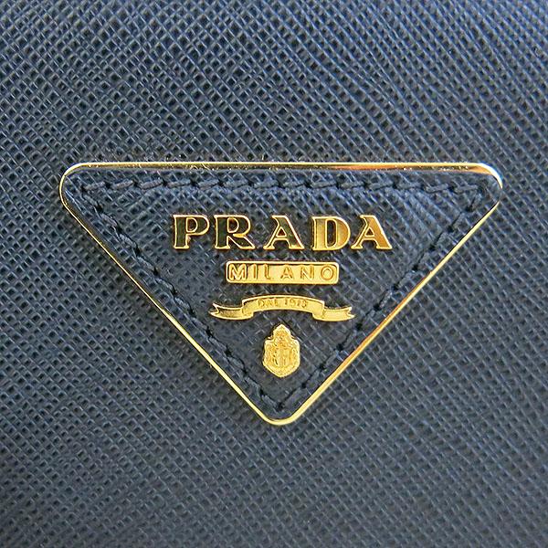 Prada(프라다) 1BA863 SAFFIANO LUX NERO 블랙 사피아노 럭스 더블지퍼 골드메탈 로고 디테일 토트백 + 숄더스트랩 2WAY [대구동성로점] 이미지4 - 고이비토 중고명품