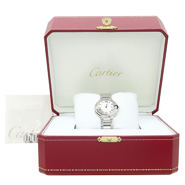 Cartier(까르띠에) W69010Z4 발롱블루 드 까르띠에 S사이즈 쿼츠 28MM 스틸 여성용 시계 [강남본점]