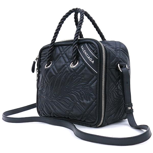 Balenciaga(발렌시아가) 466541 측면 로고 장식 블랭킷 스퀘어 토트백 + 숄더스트랩 [강남본점] 이미지2 - 고이비토 중고명품