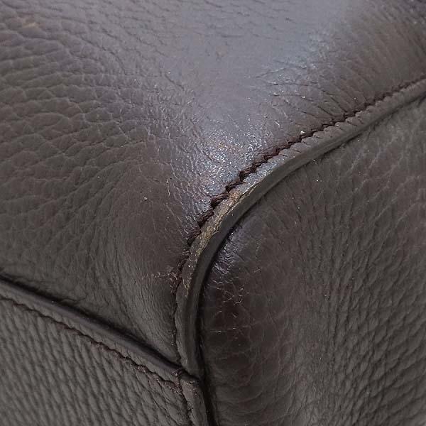 Gucci(구찌) 387074 다크 브라운 컬러 레더 도큐먼트 브리프 케이스 서류 가방 토트백 + 숄더스트랩 2WAY [인천점] 이미지5 - 고이비토 중고명품