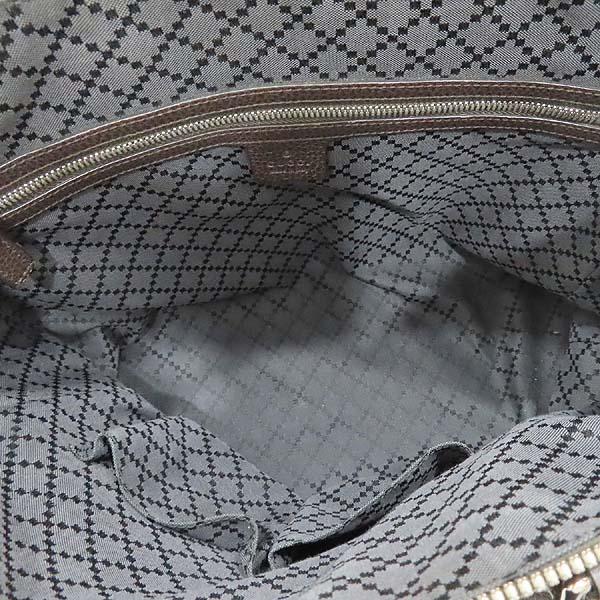Gucci(구찌) 387074 다크 브라운 컬러 레더 도큐먼트 브리프 케이스 서류 가방 토트백 + 숄더스트랩 2WAY [인천점] 이미지6 - 고이비토 중고명품