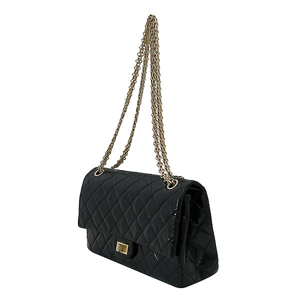 Chanel(샤넬) A37587 빈티지 블랙 페이던트 2.55 M사이즈 금장 체인 숄더백 [부산센텀본점] 이미지3 - 고이비토 중고명품
