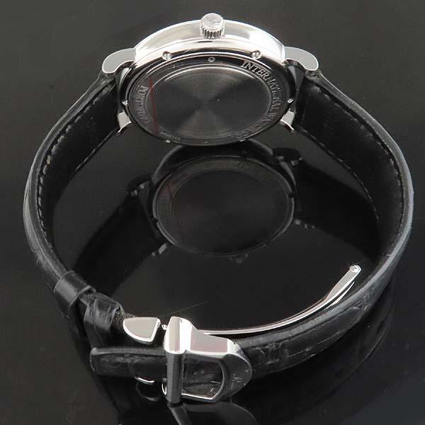 IWC(아이더블유씨) IW356517 PORTOFINO (포르토피노) 화이트 다이얼 금장 바 인덱스 데이트 블랙 레더 브레이슬릿 폴딩 버클 오토매틱 남성용 시계 [인천점] 이미지4 - 고이비토 중고명품