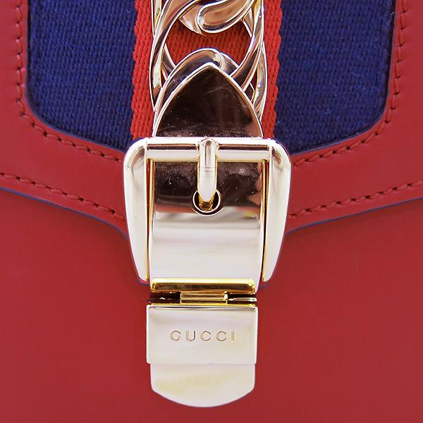 Gucci(구찌) 421882 Gucci Sylvie 실비 레드 레더 리본 토트 스트랩 + 숄더백 [부산센텀본점] 이미지4 - 고이비토 중고명품