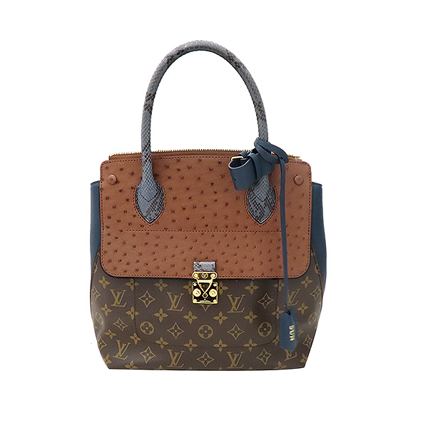 Louis Vuitton(루이비통) N91282 모노그램 캔버스 EX.PY.B (오스트리치,리자드,그로 그랭 레더) 혼방 MAJES(마제스튀) MM 토트백 [부산서면롯데점] 이미지2 - 고이비토 중고명품