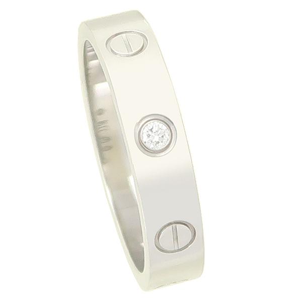Cartier(까르띠에) B4050549 18K 화이트골드 미니 러브링 1포인트 다이아 반지-12호 [잠실점]