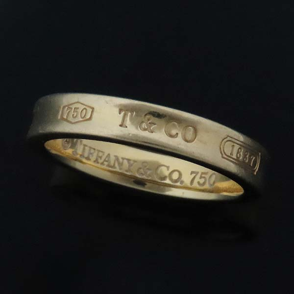 Tiffany(티파니) 18K(750) 옐로우골드 1837 라운드 반지 - 17호 [인천점] 이미지4 - 고이비토 중고명품