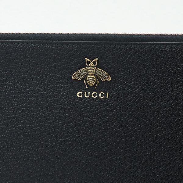 Gucci(구찌) 523684 블랙 레더 Animalier(애니멀리에) 클러치백 [강남본점] 이미지4 - 고이비토 중고명품