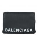 Balenciaga(발렌시아가) 575215 화이트로고 블랙레더 클러치백[광주상무점]