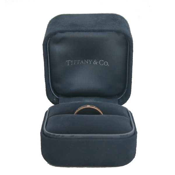 Tiffany(티파니) 18K 핑크골드 Tiffany&Co 라운드 로고 브릴리언트 3포인트 다이아 4MM 반지 - 16.5호 [동대문점]
