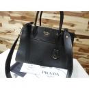 Prada(프라다) 1BA130 블랙레더 SAFFIANO 사피아노 패러다임 미듐 토트백+2WAY w