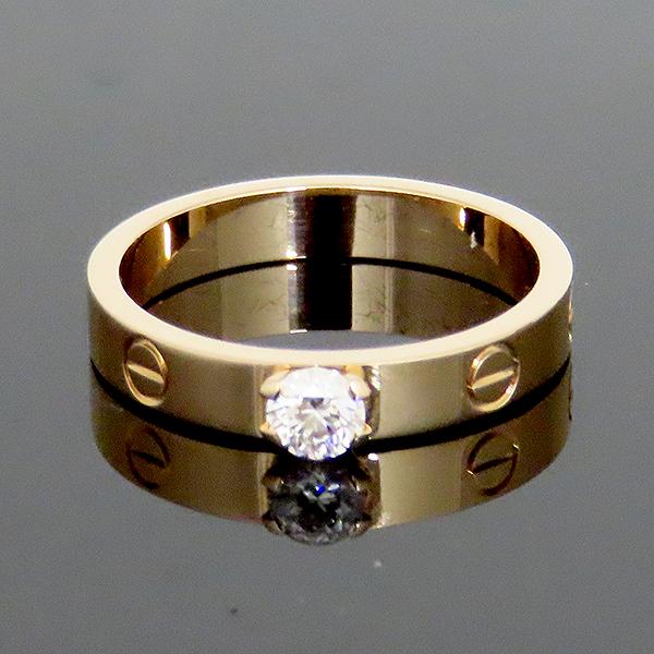 Cartier(까르띠에) N4204055 18K 로즈골드 E컬러 VVS1 0.23ct 1포인트 다이아 솔리테어 미니 러브링 반지 - 15호 [대전본점] 이미지2 - 고이비토 중고명품