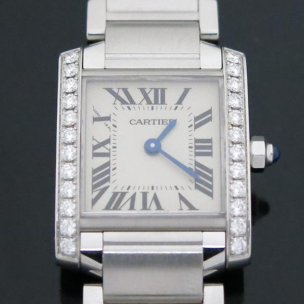 Cartier(까르띠에) W4TA0008 탱크 프랑세스 베젤 다이아 S사이즈 쿼츠 스틸 여성용 시계 [부산센텀본점] 이미지2 - 고이비토 중고명품
