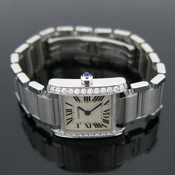 Cartier(까르띠에) W4TA0008 탱크 프랑세스 베젤 다이아 S사이즈 쿼츠 스틸 여성용 시계 [부산센텀본점] 이미지3 - 고이비토 중고명품