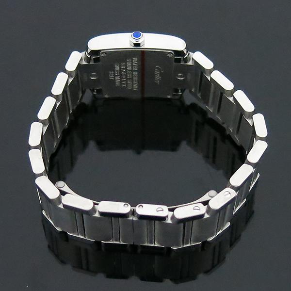 Cartier(까르띠에) W4TA0008 탱크 프랑세스 베젤 다이아 S사이즈 쿼츠 스틸 여성용 시계 [부산센텀본점] 이미지4 - 고이비토 중고명품