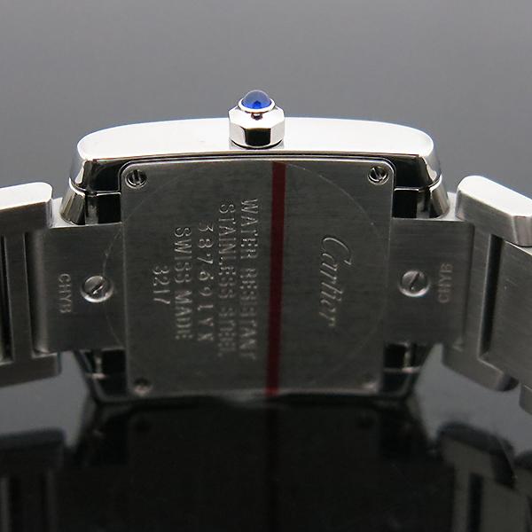 Cartier(까르띠에) W4TA0008 탱크 프랑세스 베젤 다이아 S사이즈 쿼츠 스틸 여성용 시계 [부산센텀본점] 이미지6 - 고이비토 중고명품