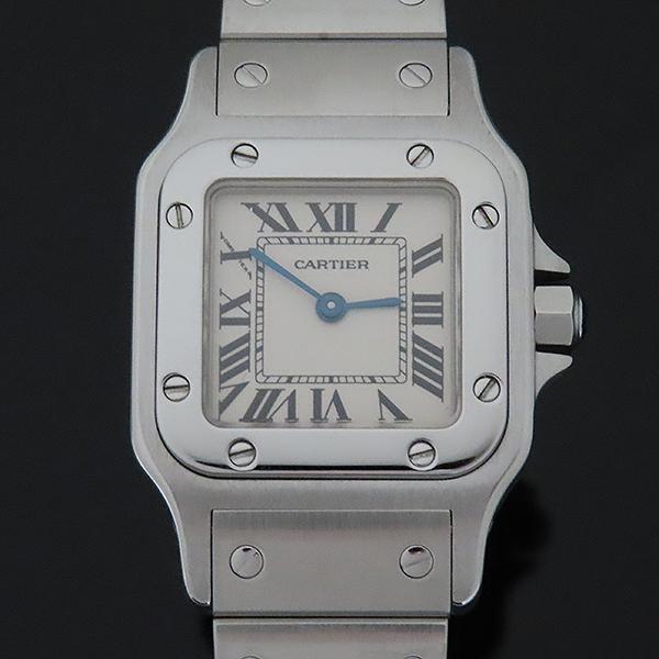 Cartier(까르띠에) W20056D6 산토스 갈베 스몰 S 사이즈 화이트다이얼 로마인덱스 블루핸즈 쿼츠 스틸 여성용시계 [부산서면롯데점] 이미지2 - 고이비토 중고명품