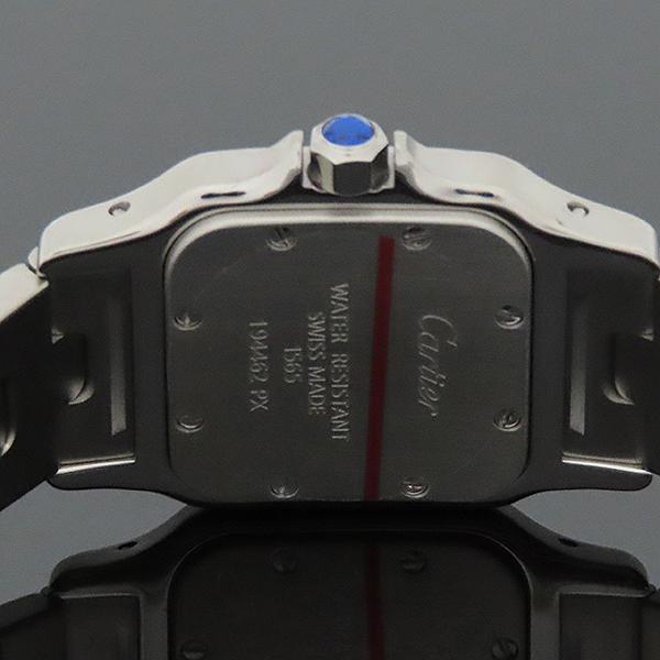 Cartier(까르띠에) W20056D6 산토스 갈베 스몰 S 사이즈 화이트다이얼 로마인덱스 블루핸즈 쿼츠 스틸 여성용시계 [부산서면롯데점] 이미지5 - 고이비토 중고명품
