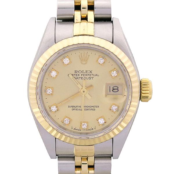 Rolex(로렉스) 69173 18K 콤비 10포인트 다이아 DATE JUST(데이트 저스트) 여성용 시계 [강남본점]