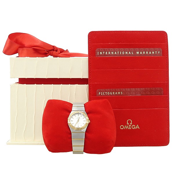 Omega(오메가) 123.20.24.60.02.002 신형 CONSTELLATION (컨스틸레이션) 18K 골드 콤비 풀바 여성용 시계 [강남본점]