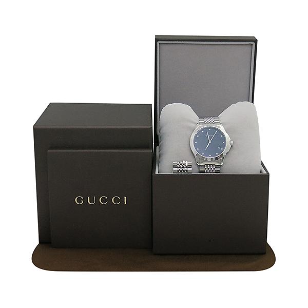 Gucci(구찌) YA126405 G TIMELESS 12포인트 다이아 스틸 남성용시계 [부산센텀본점]