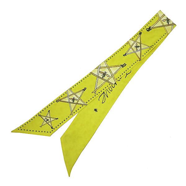 Dior(크리스챤디올) 실크 옐로우 스타 프린팅 트윌 스카프 [부산센텀본점] 이미지2 - 고이비토 중고명품