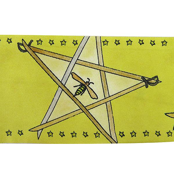 Dior(크리스챤디올) 실크 옐로우 스타 프린팅 트윌 스카프 [부산센텀본점] 이미지3 - 고이비토 중고명품