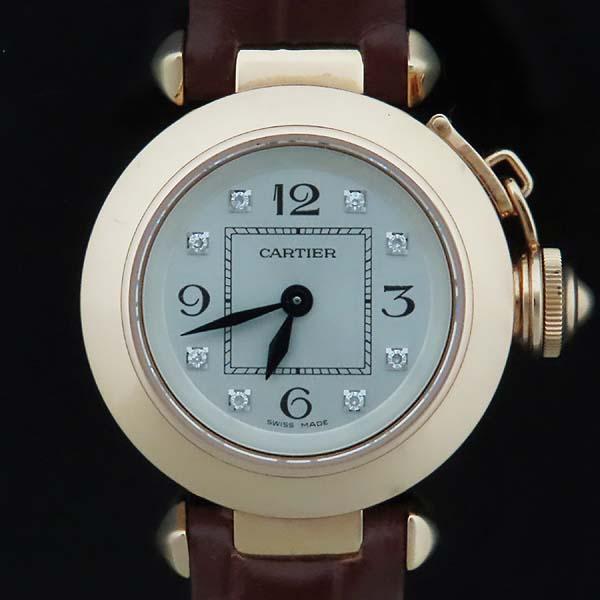 Cartier(까르띠에) WJ124028 PASHA 파샤 750 핑크골드 베젤 8 포인트 파베 다이얼 패브릭 브레이슬릿 쿼츠 여성용 시계 [인천점] 이미지2 - 고이비토 중고명품