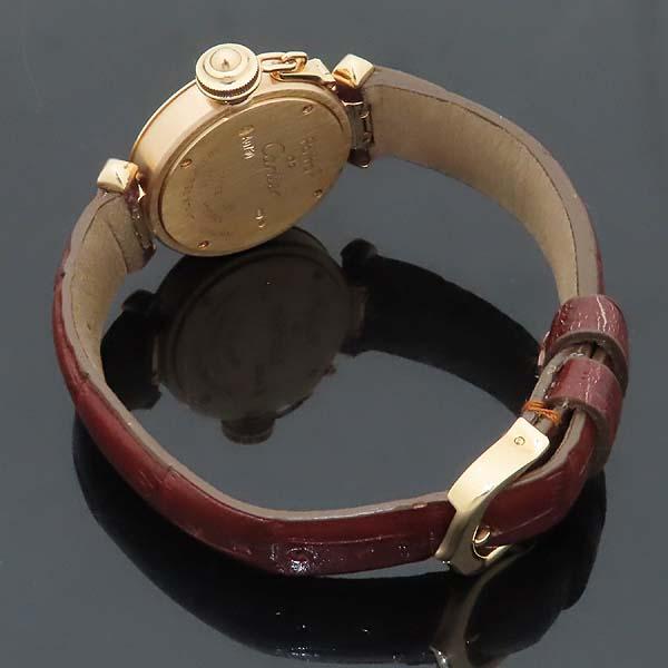 Cartier(까르띠에) WJ124028 PASHA 파샤 750 핑크골드 베젤 8 포인트 파베 다이얼 패브릭 브레이슬릿 쿼츠 여성용 시계 [인천점] 이미지4 - 고이비토 중고명품