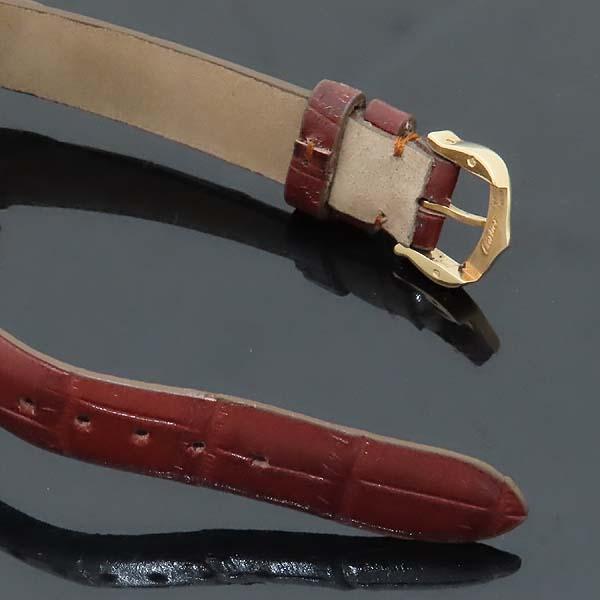Cartier(까르띠에) WJ124028 PASHA 파샤 750 핑크골드 베젤 8 포인트 파베 다이얼 패브릭 브레이슬릿 쿼츠 여성용 시계 [인천점] 이미지5 - 고이비토 중고명품