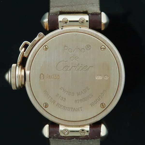 Cartier(까르띠에) WJ124028 PASHA 파샤 750 핑크골드 베젤 8 포인트 파베 다이얼 패브릭 브레이슬릿 쿼츠 여성용 시계 [인천점] 이미지6 - 고이비토 중고명품