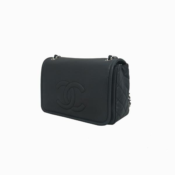 Chanel(샤넬) COCO로고 블랙 캐비어 스킨 플랩 체인 숄더백 [동대문점] 이미지3 - 고이비토 중고명품