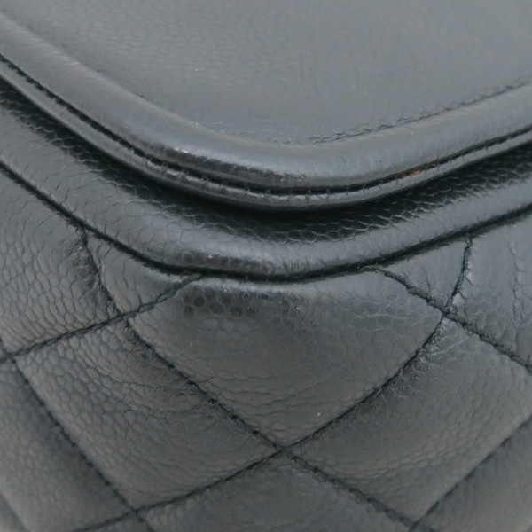 Chanel(샤넬) COCO로고 블랙 캐비어 스킨 플랩 체인 숄더백 [동대문점] 이미지4 - 고이비토 중고명품