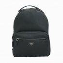 Prada(프라다) 2VZ032 삼각 로고 장식 블랙 사피아노 레더 백팩 [동대문점]