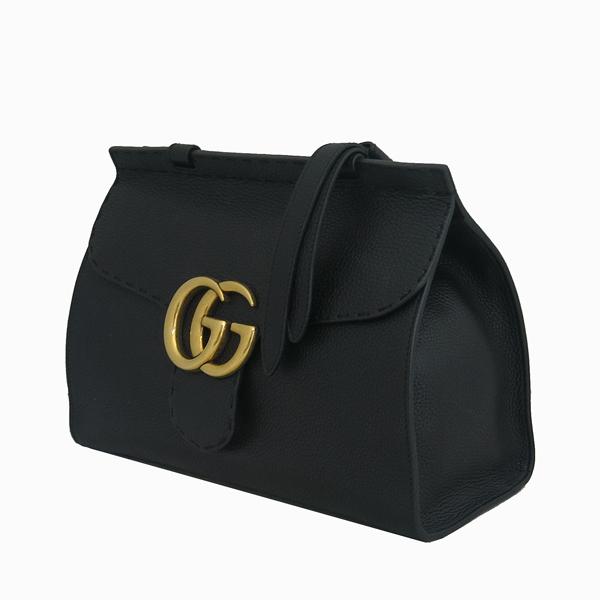 Gucci(구찌) 421890 블랙 레더 GG Marmont(마몬트) 금장 로고 토트백+숄더스트랩 2WAY [동대문점] 이미지3 - 고이비토 중고명품