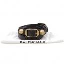 Balenciaga(발렌시아가) 236345 자이언트 금장 장식 브라운 레더 팔찌 [강남본점]