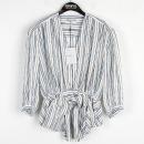Balenciaga(발렌시아가) 스트라이프 스타 패턴 여성용 블라우스 [강남본점]