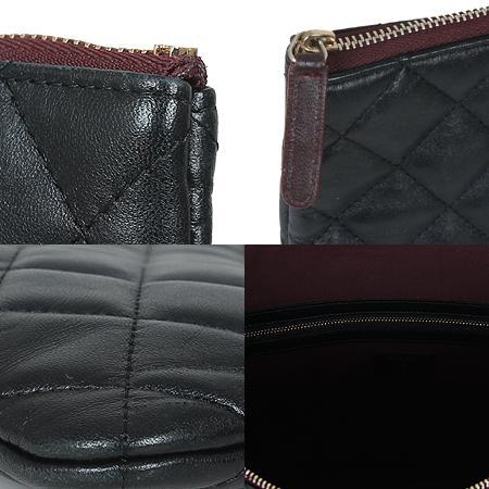 Chanel(샤넬) COCO로고 은장 클래식 램스킨 블랙 라지 사이즈 클러치[광주롯데점] 이미지5 - 고이비토 중고명품