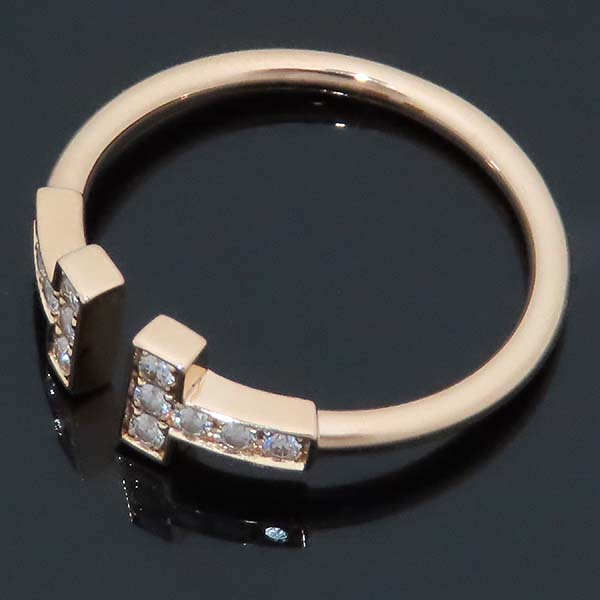 Tiffany(티파니) 18K(AU 750) 핑크골드 T 컬렉션 12포인트 다이아 와이어 링 반지 - 13.5호 [인천점] 이미지2 - 고이비토 중고명품