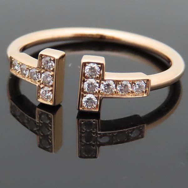 Tiffany(티파니) 18K(AU 750) 핑크골드 T 컬렉션 12포인트 다이아 와이어 링 반지 - 13.5호 [인천점] 이미지3 - 고이비토 중고명품