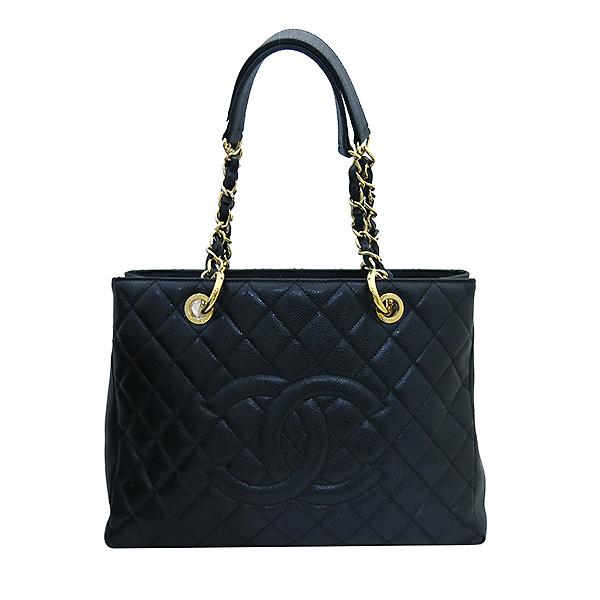 Chanel(샤넬) A50995Y01588 캐비어스킨 블랙 그랜드샤핑 금장 로고 체인 숄더백 [부산센텀본점] 이미지2 - 고이비토 중고명품